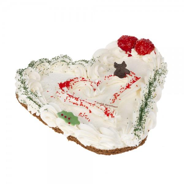 Kersthart opgespoten met crème
